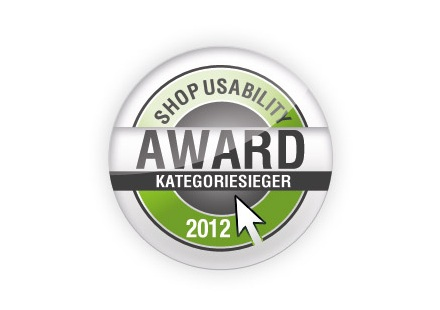 "Shop Usability Award 2012 - Sieg in der Kategorie ""Special Interests"""