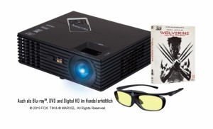 ViewSonicPJD7820HD-DEWolverine3DBlu-rayBundle+3D-Brille