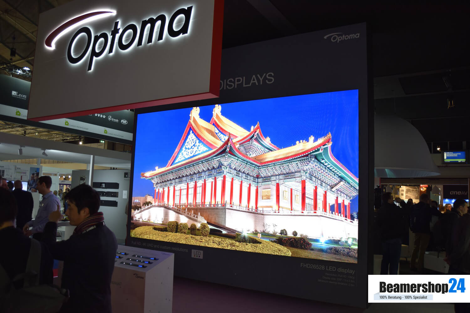 Optoma ISE 2018 Optoma LED Wall