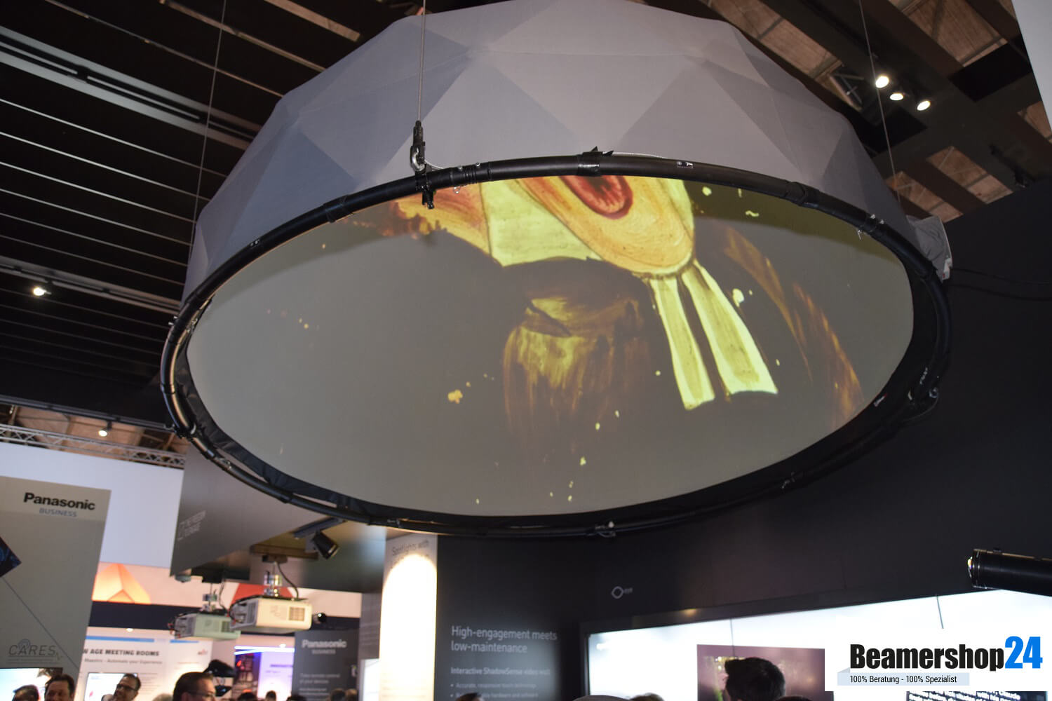 Panasonic ISE 2018 Dome Projektion