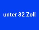 unter 32 Zoll