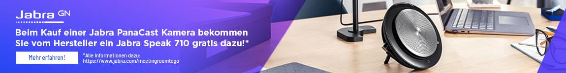 Jabra Aktion | Erhalten Sie beim Kauf einer Jabra PanaCast Kamera ein Jabra Speak 710 beim Hersteller kostenlos dazu