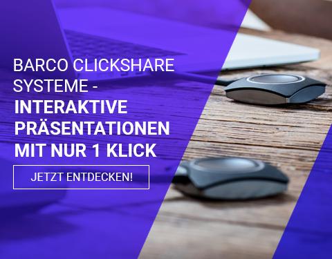 Barco ClickShare | Die Lösung für interaktive Präsentationen in Ihrem Konferenzraum