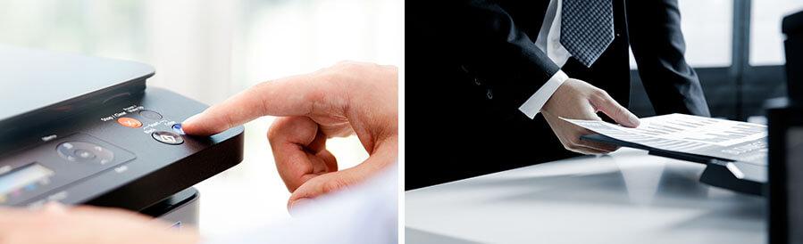 Beamer und Drucker kombinieren