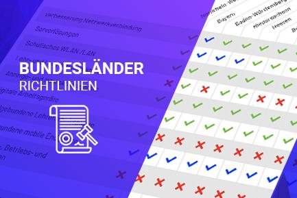 Die Förderrichtlinien pro Bundesland als PDF zum herunterladen.