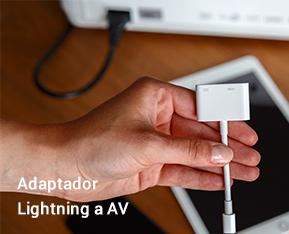 Adaptador Lightning a AV