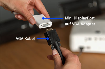 Mini-Displayport-auf-VGA Adapter