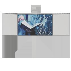 Pylonensystem mit Flügeln zur Wandmontage ohne Projektor